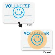 TIMEbadge 08109 School Volunteer Expiring Badges - One Day - Qty. 1,000