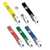 2.75'' Colored Vinyl 2-Hole Badge Clip - 500 per pack