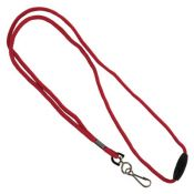 1/8'' Round Braid Lanyard w/ Safety Breakaway - 100 per pack
