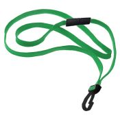 3/8'' Flat Braid Lanyard w/ Black Safety Breakaway - 100 per pack