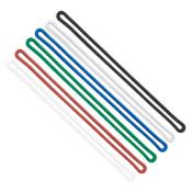 6'' Flexible Plastic Loop Straps - 100 per pack