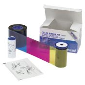 Datacard 552854-105 Half Panel Color Ribbon & PVC Card Kit - YMCKT - 125 prints