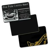 CR80.30 Matte Black PVC-U Cards - Qty. 500