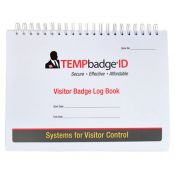 Custom TEMPbadge Expiring Visitor Badge Log Book - One Day