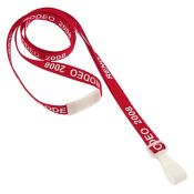 Custom Silk Screen MicroWeave Lanyard w/ Safety Breakaway & No-twist Hook - 100 per pack